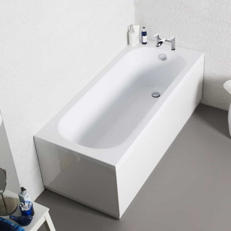 Kartell G4k UK Made Heavy Duty Straight Acrylic Bath Single Ended