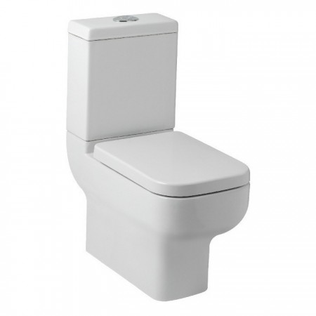 Kartell Options 600 Ceramic Close Coupled Close to Wall Toilet WC Pan With Cistern And Soft-Close Seat