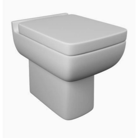 Kartell Options 600 Ceramic Back To Wall Toilet WC Pan With Premium Soft-Close Seat