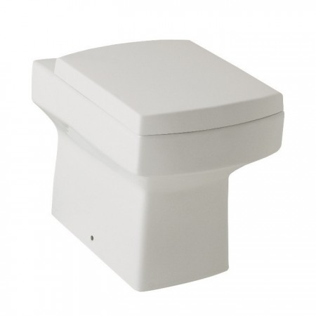 Kartell Embrace Ceramic Back To Wall Toilet WC Pan With Trueflow Concealed Cistern And Soft-Close Seat