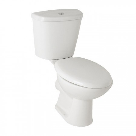 Kartell G4k Ceramic Close Coupled Toilet WC Pan With Cistern And Soft-Close Seat