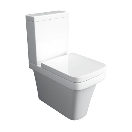 Kartell Sicily Ceramic Close Coupled Toilet WC Pan Close to Wall With Cistern And Soft-Close Seat