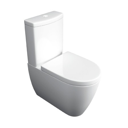 Kartell Genoa Ceramic Close Coupled Toilet WC Pan Close to Wall With Cistern And Soft-Close Seat