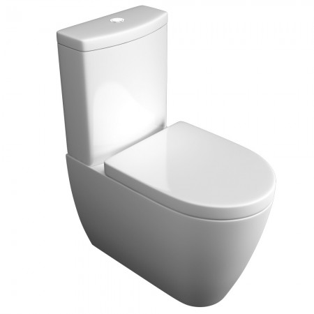 Kartell Genoa Ceramic Close Coupled Toilet WC Pan With Cistern And Soft-Close Seat