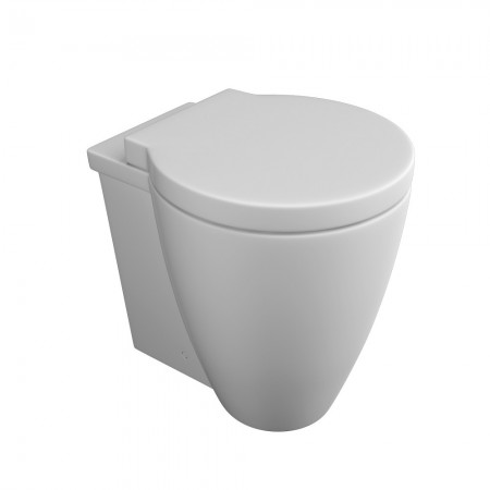 Kartell Milano Ceramic Back To Wall Toilet WC Pan With Soft-Close Seat