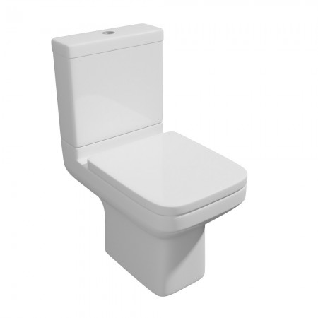 Kartell Trim Ceramic Close Coupled Toilet WC Pan With Cistern And Soft-Close Seat