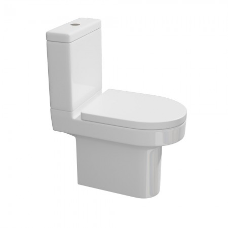 Kartell Code Ceramic Close Coupled Toilet WC Pan With Cistern And Soft-Close Seat