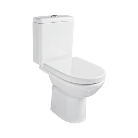 Kartell Ratio Ceramic Close Coupled Toilet WC Pan With Cistern And Soft-Close Seat