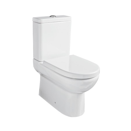 Kartell Ratio Ceramic Close Coupled Toilet WC Pan Close to Wall With Cistern And Soft-Close Seat