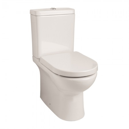 Kartell Tria Rimless Ceramic Close Coupled Toilet WC Pan With Cistern And Soft-Close Seat