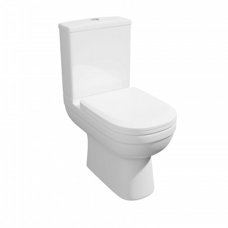 Kartell Lifestyle Ceramic Close Coupled Toilet WC Pan With Cistern And Soft-Close Seat