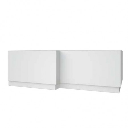 Kartell Purity L-Shaped Bath Panel 1700mm White