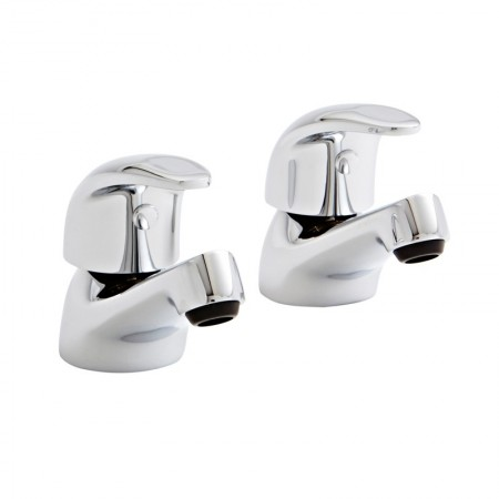Kartell Koral Brass Basin Taps Pair