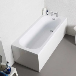 Kartell G4k UK Made Heavy Duty Straight Acrylic Bath Single Ended