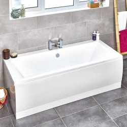 Kartell Options UK Made Heavy Duty Straight Acrylic Bath