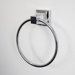 Square Hand Towel Ring Wall Mounted Chrome Bathroom Accessories