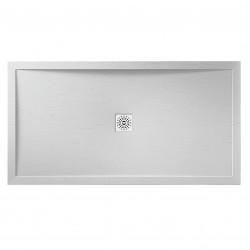 Aquaglass Designer Slate Effect Stone Resin Rectangular Shower Trays