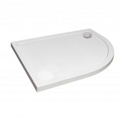 Aquaglass Designer ABS Capped Acrylic Stone Resin Offset Quadrant Shower Trays