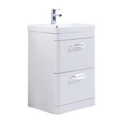 Kartell Metro Drawer With Basin Modern Vanity Unit Floor Standing White