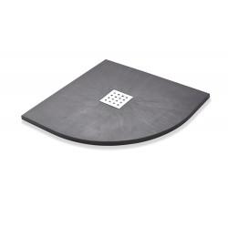 Kartell K-Vit Stone Resin Quadrant Slate Shower Tray Graphite