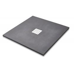 Kartell K-Vit Stone Resin Square Slate Shower Tray Graphite
