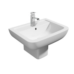 Kartell Options 600 Ceramic Semi Pedestal With Basin 550mm
