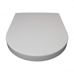 D-Shaped White Soft Close Quick Release Kartell Toilet Seat Top/Bottom Fix with Fittings