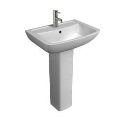 Kartell Pure Ceramic Full Pedestal With Basin 550mm