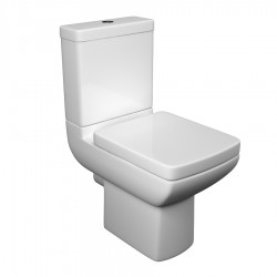 Kartell Pure Ceramic Close Coupled Toilet WC Pan With Cistern And Soft-Close Seat