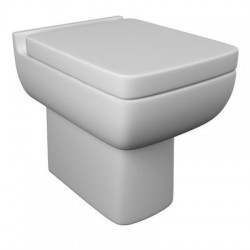 Kartell Pure Ceramic Back To Wall Toilet WC Pan With Soft-Close Seat