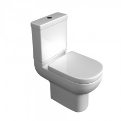 Kartell Studio Ceramic Close Coupled Toilet WC Pan With Cistern And Soft-Close Seat