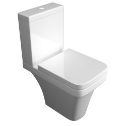Kartell Sicily Ceramic Close Coupled Toilet WC Pan With Cistern And Soft-Close Seat