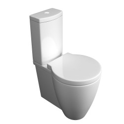 Kartell Milano Ceramic Close Coupled Toilet WC Pan With Cistern And Soft-Close Seat
