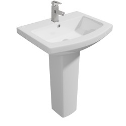 Kartell Trim Ceramic Full Pedestal With Basin 550mm