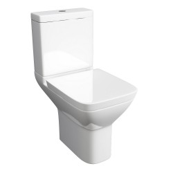 Kartell Project Square Ceramic Close Coupled Toilet WC Pan With Cistern And Soft-Close Seat