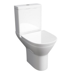 Kartell Project Round Ceramic Close Coupled Toilet WC Pan With Cistern And Soft-Close Seat