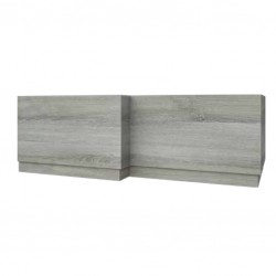 Kartell Purity L-Shaped Bath Panel 1700mm Grey Ash