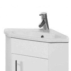 Kartell Impakt Ceramic Corner Basin for Vanity Unit W405mm x D280mm