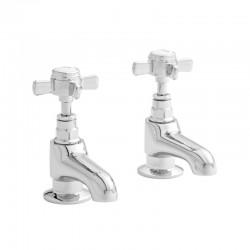 Kartell Klassique Brass Bath Taps Pair