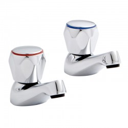 Kartell Alpha Brass Basin Taps Pair