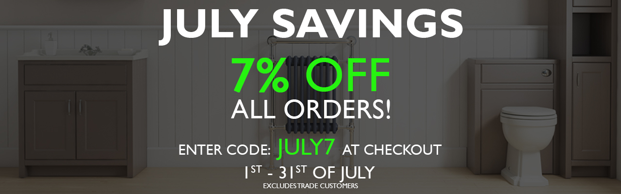 7% off All Orders. Code: JULY7